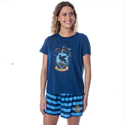 Harry Potter Hogwarts Castle Shirt and Shorts Pajama Set for Women