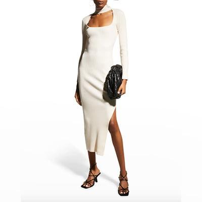 Jonathan Simkhai Standard Kenny Recycled Rib Square-Neck Dress