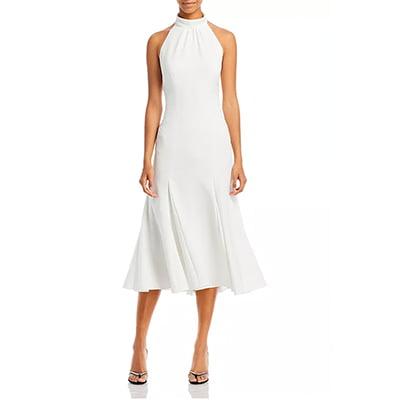 Milly Penelope High-Neck Midi Dress