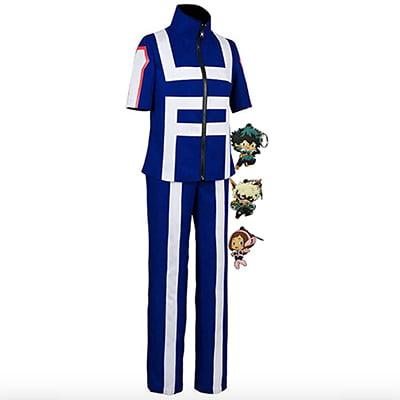 My Hero Academia Gym Uniform Anime Cosplay Halloween Costume