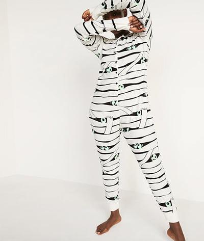 Old Navy Glow-in-the-Dark Mummy Halloween One-Piece Pajamas