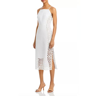 Rebecca Taylor Agnes Lace Midi Dress