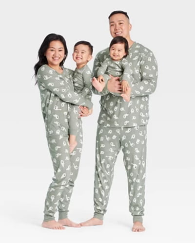Target Halloween Ghost-Print Matching Family Pajama Collection