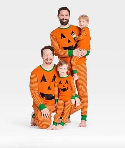 Target Halloween Orange Pumpkin Matching Family Pajama Collection