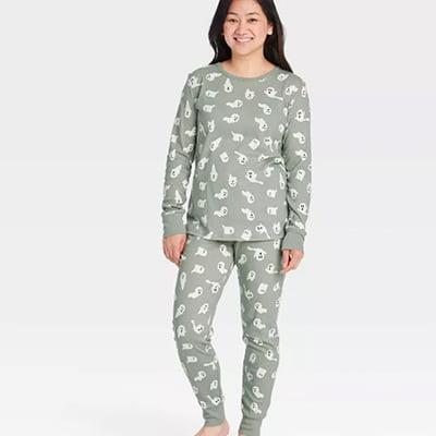 Target Women's Halloween Ghost Print Women's Pajama Set