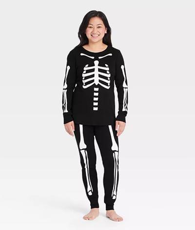 Target's Women's Halloween Skeleton Matching Family Pajama Set