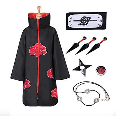 Unisex Akatsuki Cloak Naruto Cosplay Costume