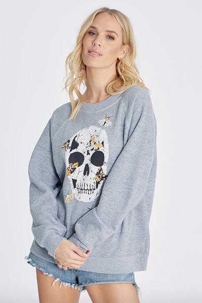 Wildfox Moth Skull Sommers Sweatshirt