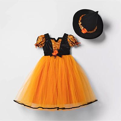 Hyde & EEK! Boutique Orange Fancy Witch Toddler Halloween Costume