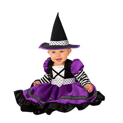 Rubie's Baby Girls' Purple and Black Witch Halloween Costume