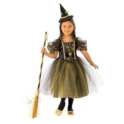 Rubie's Golden Star Girl's Witch Costume